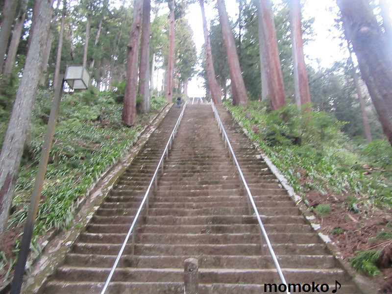 久遠寺の石段287段