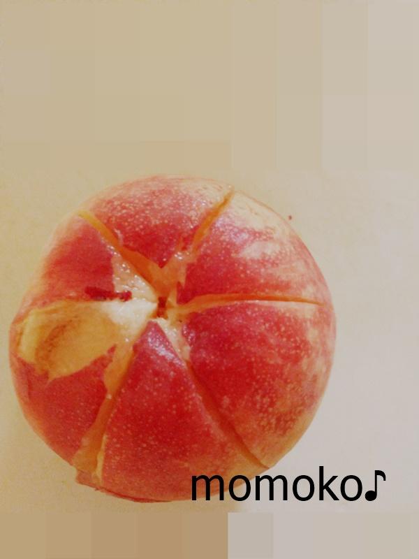 桃の皮むき2
