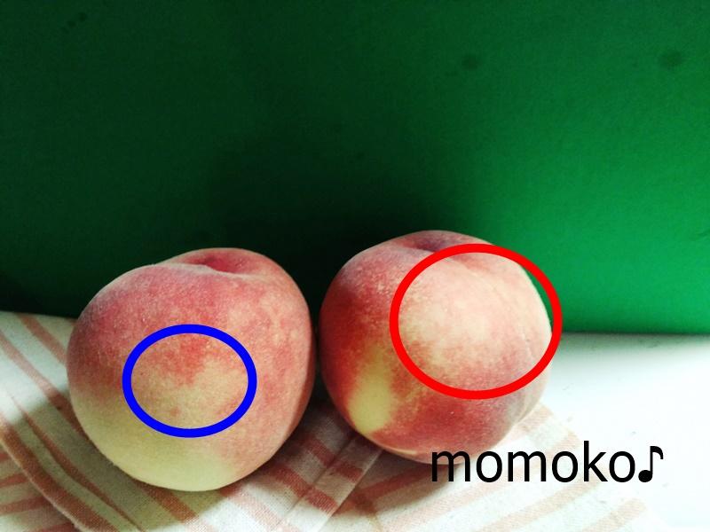 どっちが固い桃か