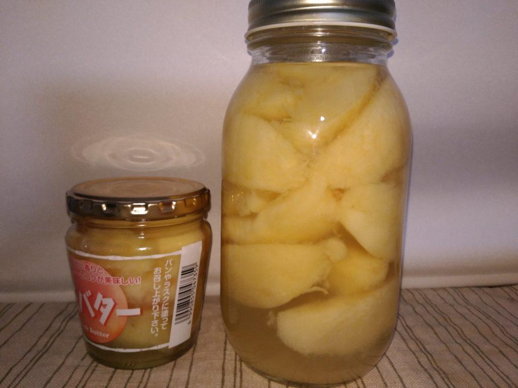 桃のシロップ漬け。全部食べちゃうぞ!